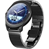 Ticwatch 2 Classic 42mm Stainless Steel Smartwatch - Onyx - Mobvoi Voice Contral Ticwear OS Compatible with Android and iOS,Personal Assistant on your wrist.