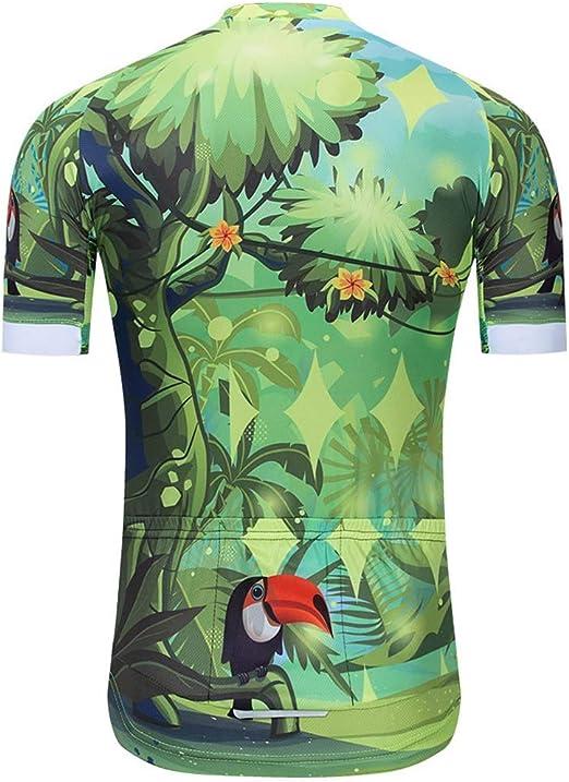 CLUBVAN Jersey de Ciclismo, Verde Jersey de Ciclismo para Hombre Jersey de Ciclismo Trek Ajuste Relajado, Secado rápido, Transpirable, para Bicicleta de Carretera MTB Deportes al Aire Libre,XL: Amazon.es: Hogar