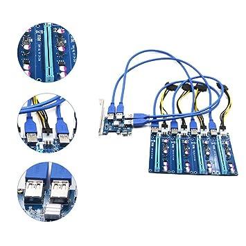 lzndeal PCI-E 1 X a 4 PCIe 16 X Slots Riser adaptador externo PCI ...