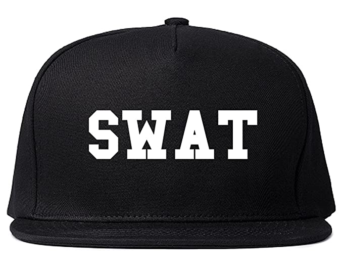 b1b2500d3d1 Swat Law Enforcement Mens Snapback Hat Cap Black at Amazon Men s ...