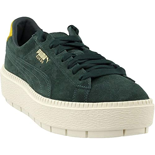 puma platform trace sneakers in yellow