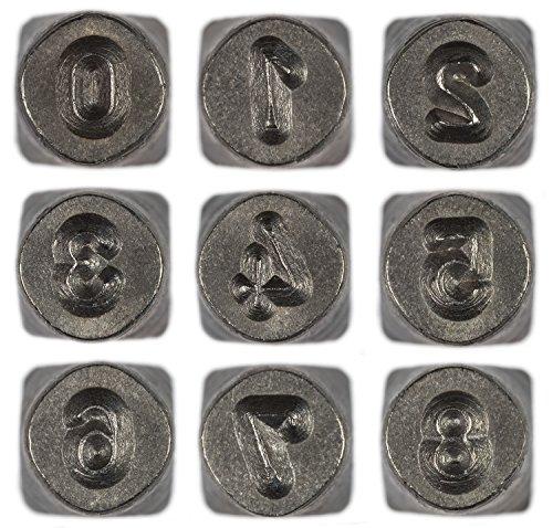 [해외]비즈 스미스 9 개 고딕 번호 0-9 금속 펀치 스탬프 세트, 3mm/Beadsmith 9 Piece Gothic Numbers 0-9 Metal Punch Stamp Set, 3mm