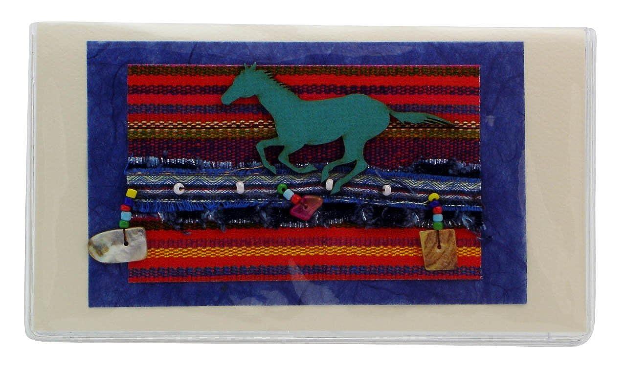 Amazon.com: Fiesta caballo Chequera Cubierta fabricado en ...
