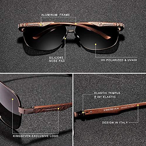 Amazon.com: Gafas de sol de aviador cuadradas de calidad ...