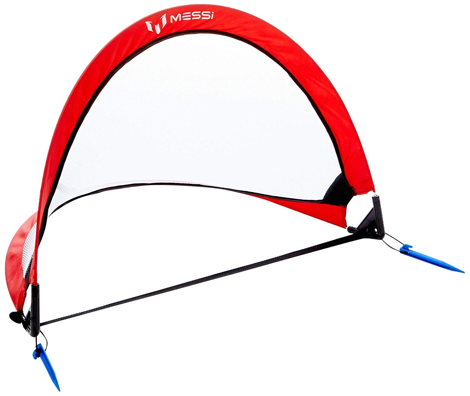 Messi Training System Pop Up Soccer Goal for Kids - 4ft Outdoor or Indoor Foldable Net - Youth Training Sports Equipment with Carrying Bag - Portable for Practice in Park, School, Backyard