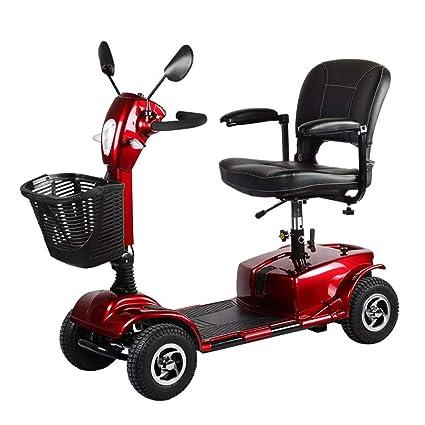 Folding Portable Mobility Scooter,Ciclomotor Eléctrico con 4 Ruedas con Puerto De Carga USB,