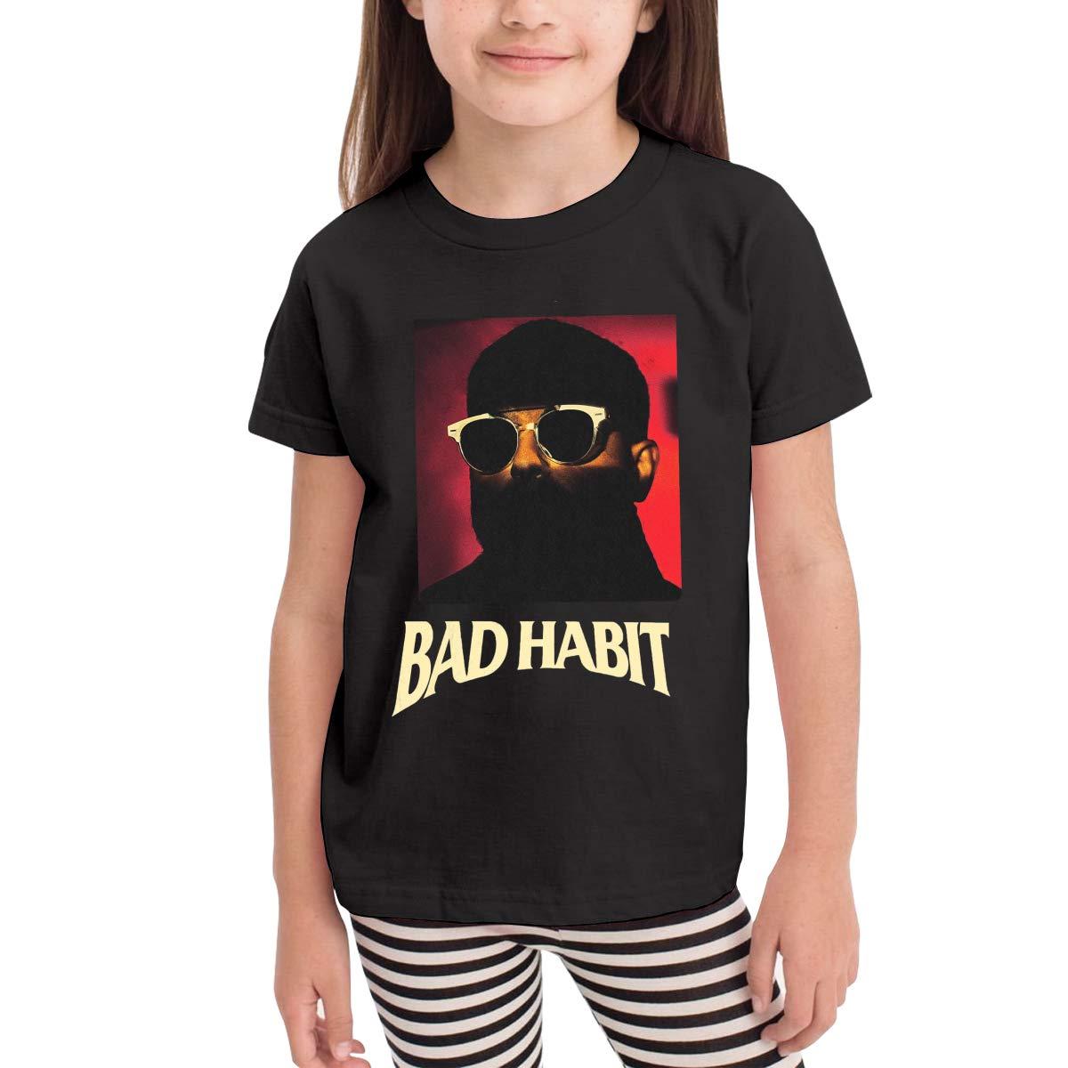 WYeter NAV Bad Habits Childrens Soft Short Sleeve Tshirt Black