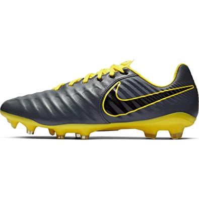 newest collection 27b42 71973 Nike Men's Tiempo Legend 7 Pro FG Soccer Cleats (Grey/Black/Yellow) (7 D US)