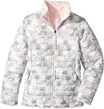 The North Face Girl's Reversible Mossbud Swirl Jacket - Algiers Blue Sponge Print - M (Past Season)
