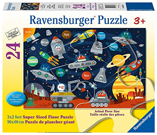 Ravensburger Space Aliens  24 Piece Jigsaw Floor Puzzle for Kids – Every Piece is Unique, Pieces Fit Together Perfectly by Ravensburger