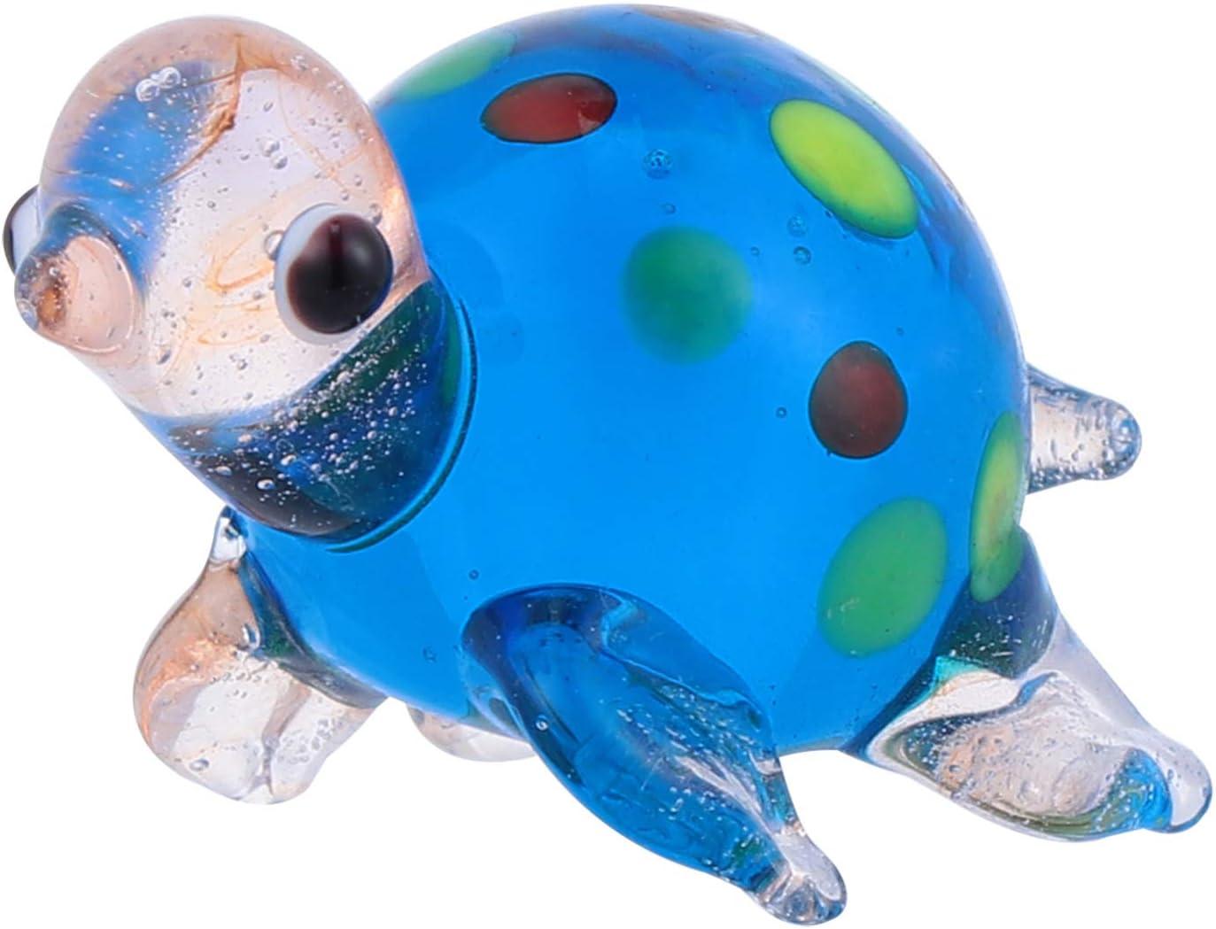 IMIKEYA Mini Glass Turtle Ornament Turtle Collectible Figurine Sea Animal Miniature Fairy Garden Bonsai Plant Pot Craft DIY Micro Landscape Dollhouse Supplies Party Favors Gifts Style 1