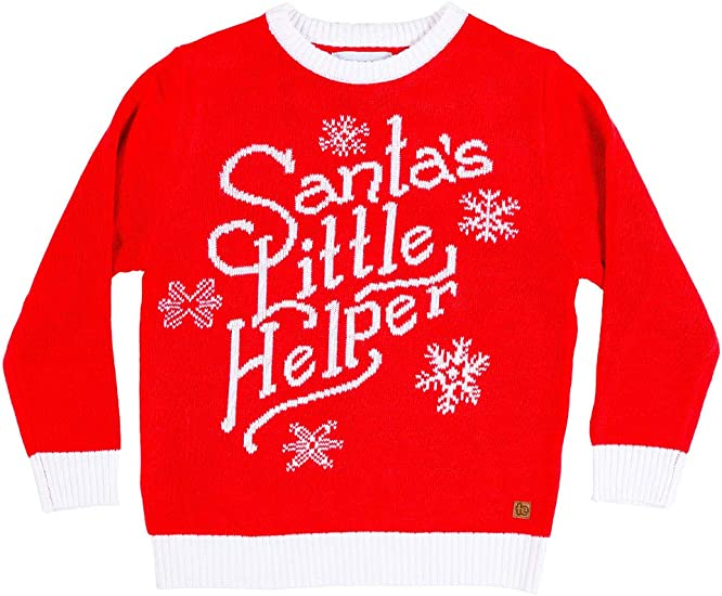 Tipsy Elves Youth Elf Ugly Christmas Sweater Cute Christmas Sweater for Child