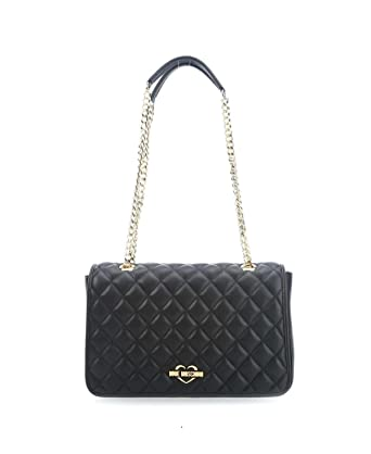 c6069b1fbc Love Moschino Borsa tracolla Nappa pu Trap JC4203PP04KA0000 similpelle Nero  fw 17/18: Amazon.co.uk: Clothing