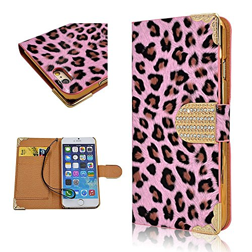 IPhone 5 5S Case Cute Designs UmikoTM Pink Leopard Print Cover Cases For Girls Teens