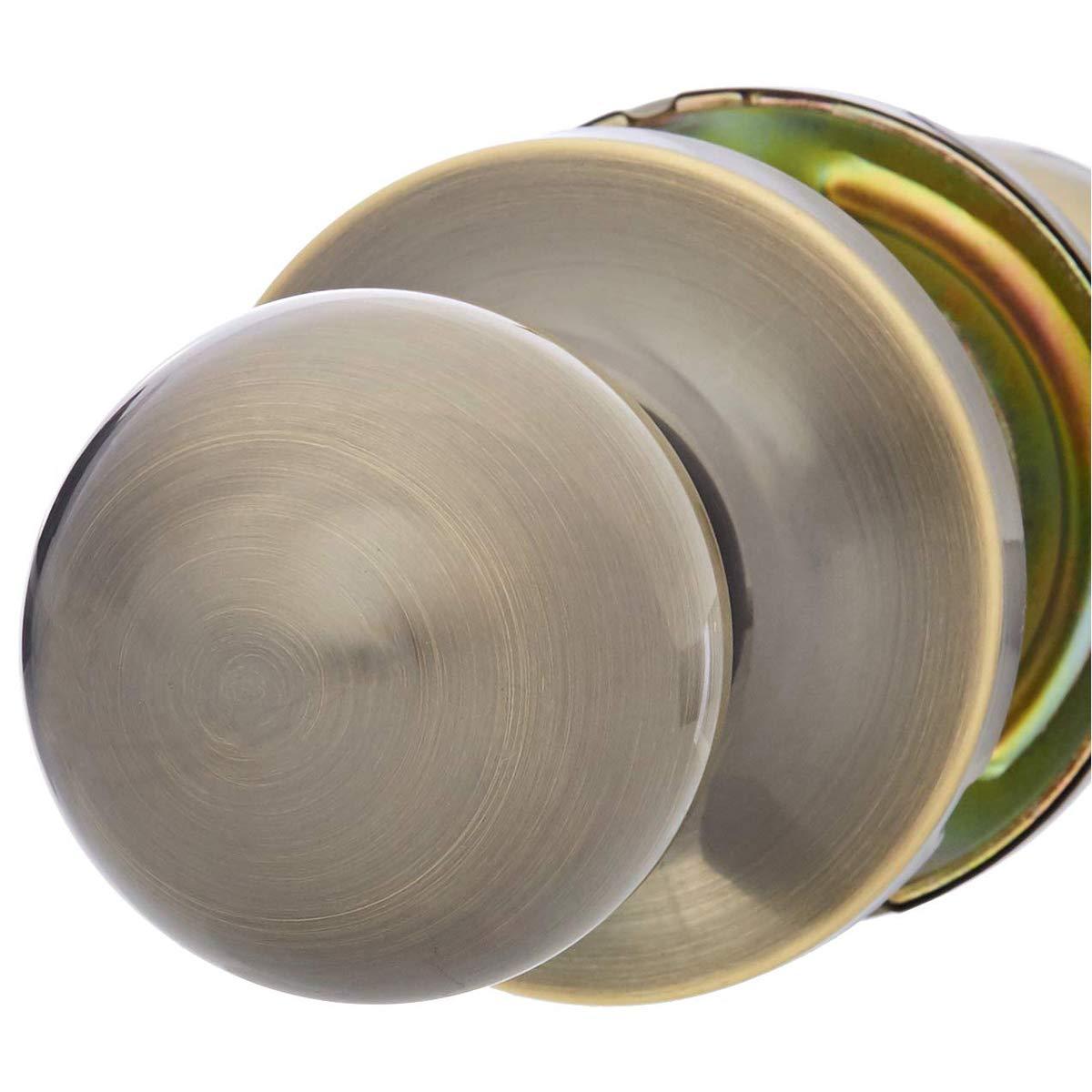 Standard Ball Satin Nickel Basics Entry Door Knob