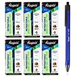 KUGELZ Retractable Semi Gel Pen 72/Set | Long Lasting Blue Tint Writing Pens – Precise, Quick Dry, Slim, Ergonomic Use – Best for Office, School– 0.7 mm Fine Point + Bulk Pack of 72