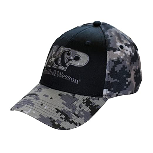 b107db0a3 M&P Smith & Wesson Men's Digital Camo Logo Cap, Black/Digital Camo, One  Size Fits Most