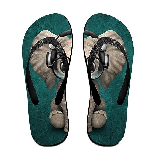 924ed4be4d95 Ytfsf Cute Baby Elephant Dj Cyber Monday Unisex Comfortable Beach Flip  Flops Sandals Slippers Sandal For