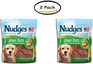 PACK OF 2 - Nudges Health and Wellness Chicken Jerky Dog Treats, 36 oz.