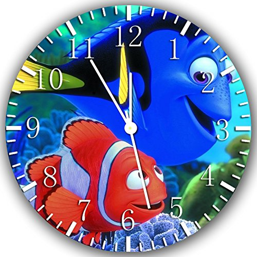 Borderless Finding Dory Nemo Frameless Wall Clock Z141 Nice for Decor Or Gifts