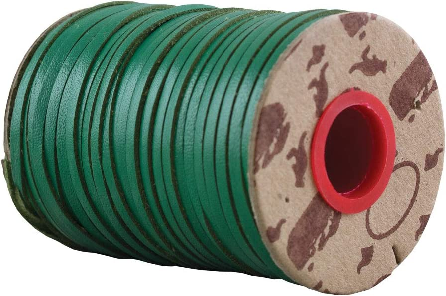 Pink, 1//8 inch 10 YD. Springfield Leather Company Rainbow Kangaroo Lace