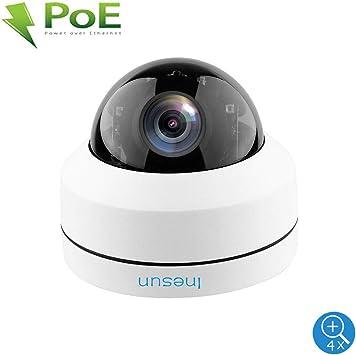 NEW 5MP Mini PTZ IP Camera Super HD 2592x1944 Pan//Tilt 4X Zoom IR Camera PoE
