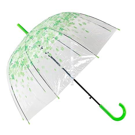 Transparente Burbuja Paraguas, Automático Abierto Forma Cúpula Forma Lluvia Paraguas Decoración Para Bodas y Eventos