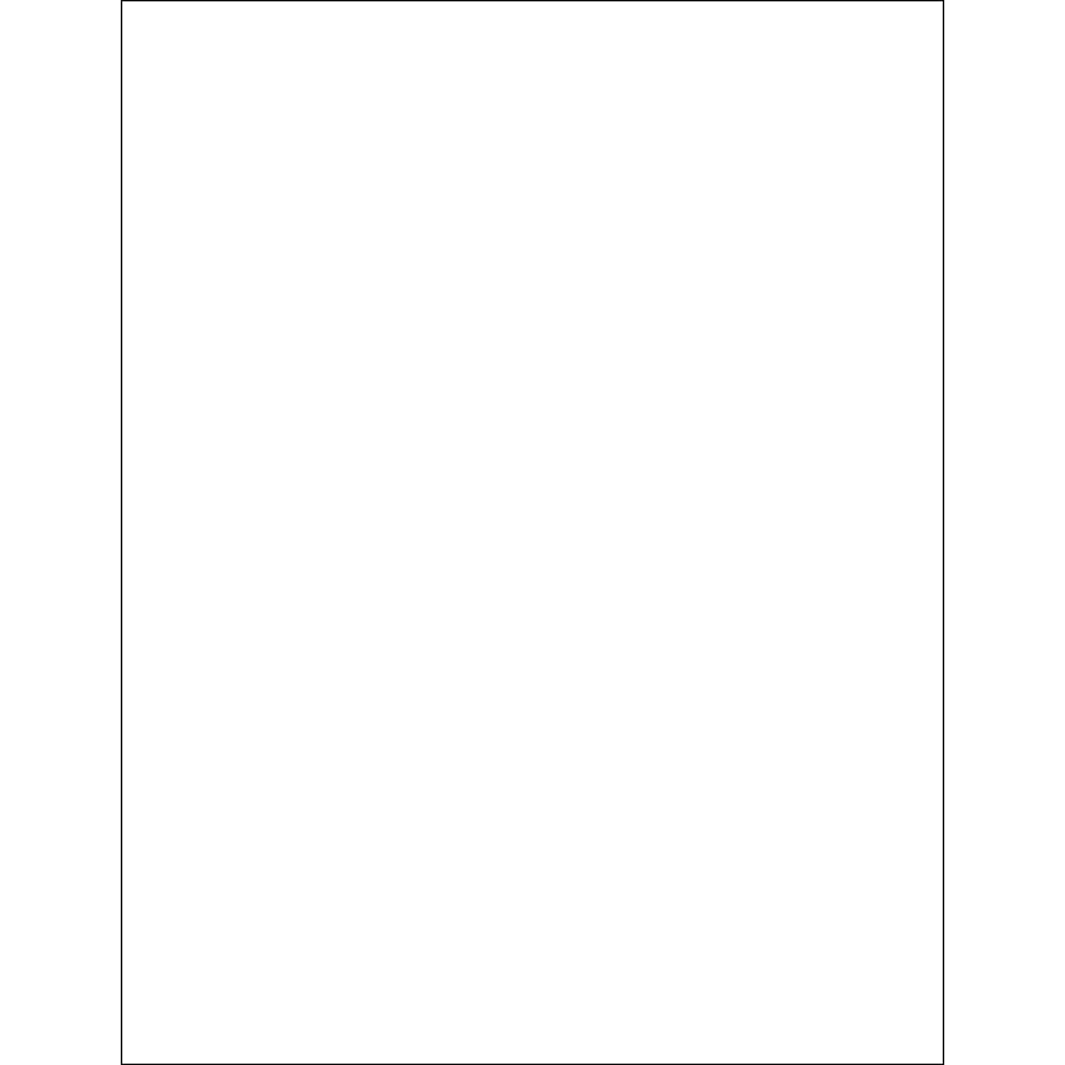 Tape Logic LL271 Removable Rectangle Laser Labels 8 1//2 x 11 White Pack of 100