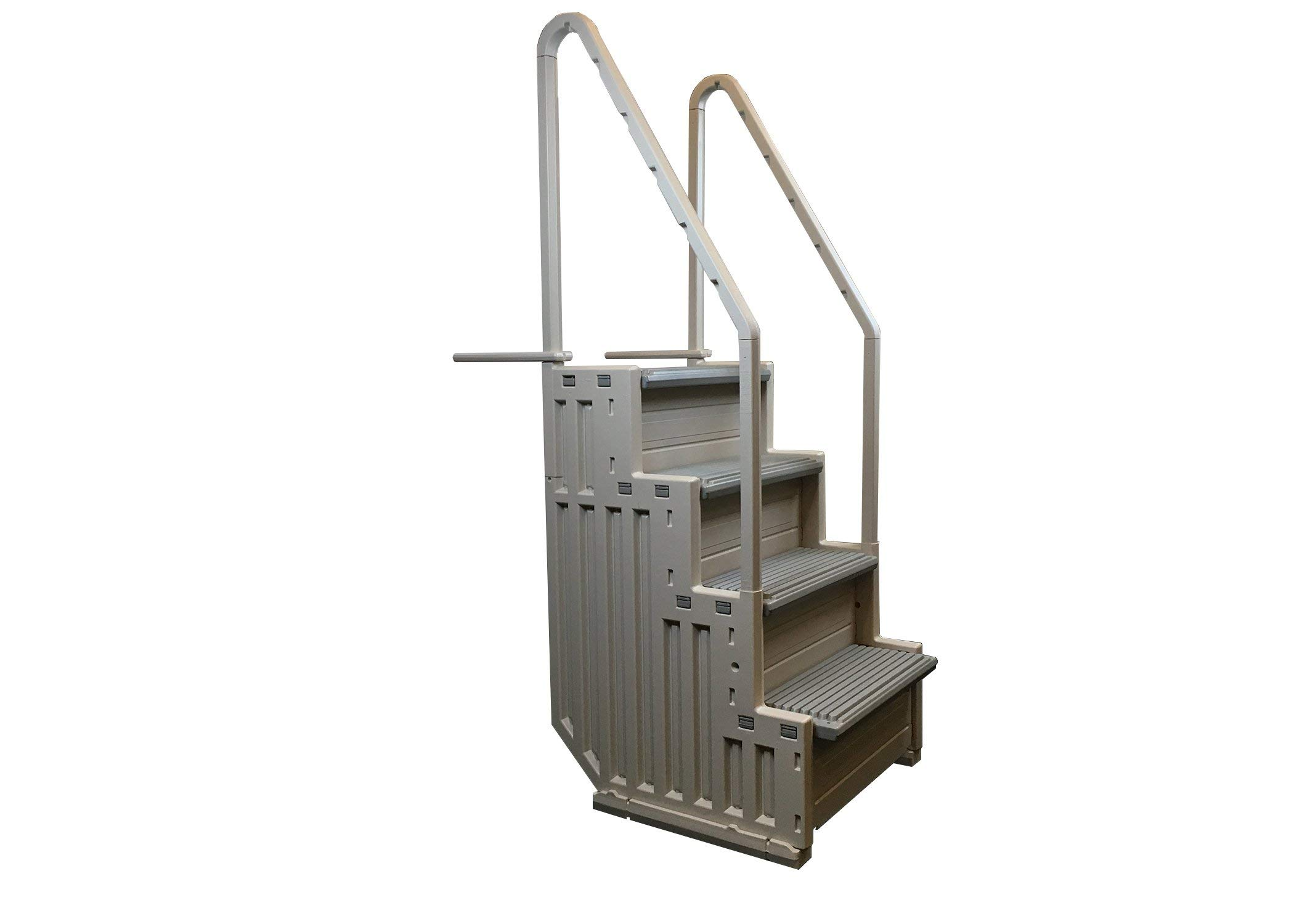 Confer Staircase Style Above Ground Pool Steps Warm Grey - STEP-1-X by Confer Plastics