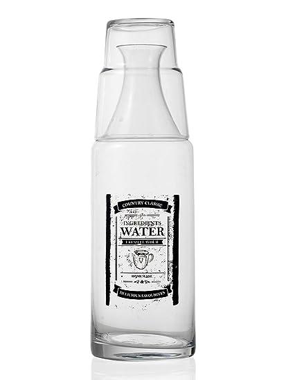 MONTEMAGGI Botella cristal con vaso como tappo. botella de estilo shabby, decorazioni. Tamaño