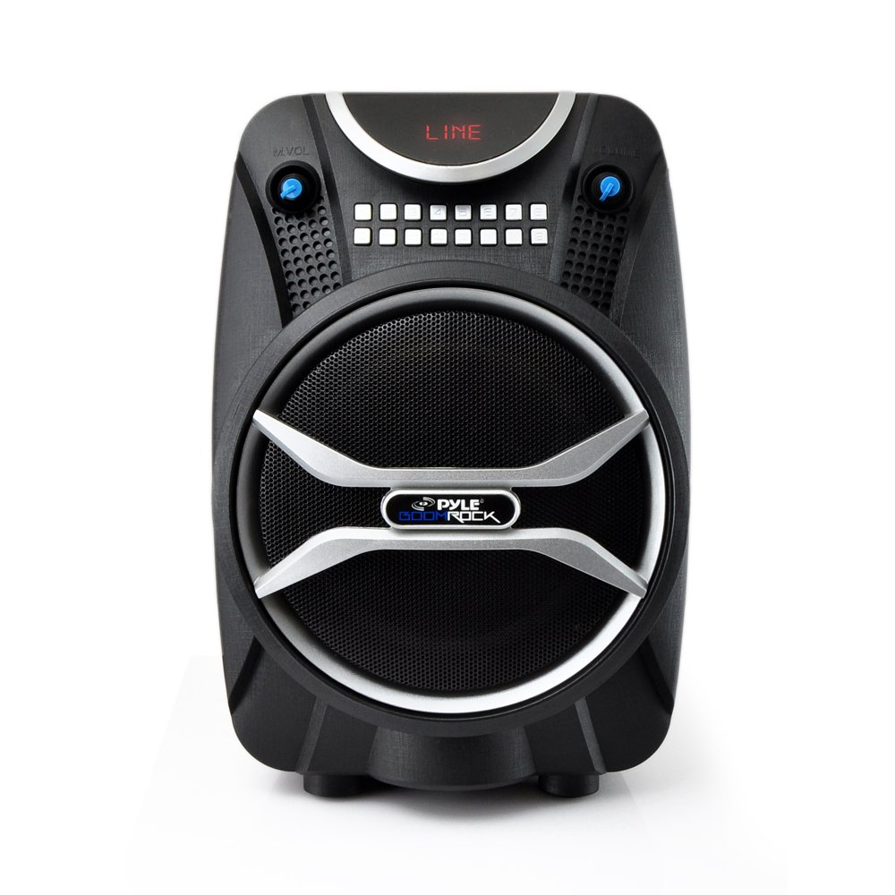 PYLE PWMAB210BK Boom Rock Bluetooth Karaoke Speaker Recording System, Rechargeable Battery, Wireless Mic by Pyle (Image #2)