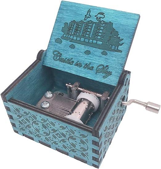 Castillo en el Cielo Caja de música manivela Caja Musical Tallada ...