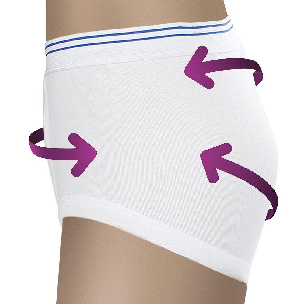 Meilyla - Calzoncillos de incontinencia reutilizables para hombre, algodón con almohadilla superabsorbente (8oz): Amazon.es: Salud y cuidado personal