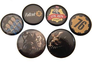 Fallout 76 - Pack de chapas (Talla Única) (Multicolor): Amazon.es: Ropa y accesorios