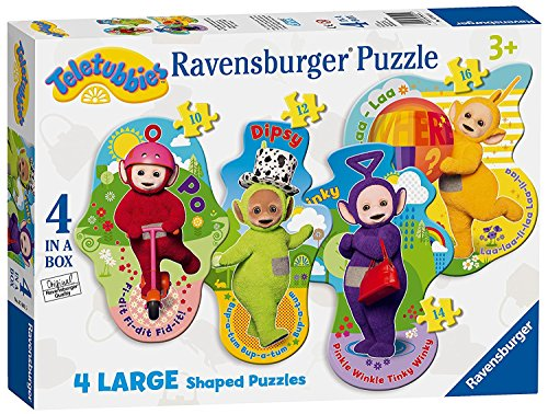 Teletubbies 4 Large Shaped Character Puzzles Ages 3+ -