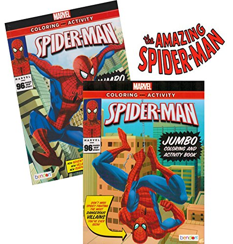 Spider-man Coloring & Activity Book Set (2 Books ~ 96 pgs each) by Marvel Comics]()