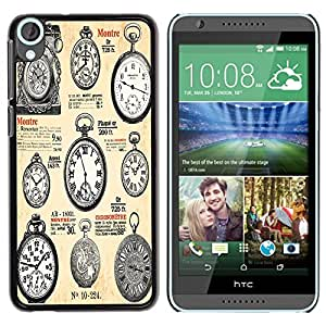 Dragon Case - FOR HTC Desire 820 - Classical clocks - Caja protectora de pl??stico duro de la cubierta Dise?¡Ào Slim Fit
