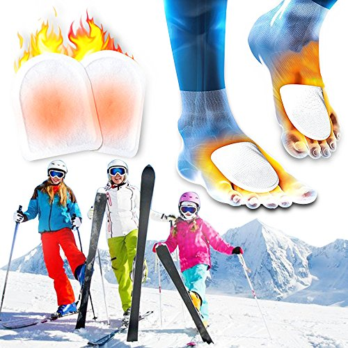 Toe Warmer Heating Patch with Adhesive Backing, Disposable Boot Heat Packs, Long Last for 8 Hours, 20 Pack (Shelter Toe Warmers)