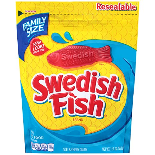 Swedish Fish Soft & Chewy Candy (Original, 1.9-Pound Bulk Bag)
