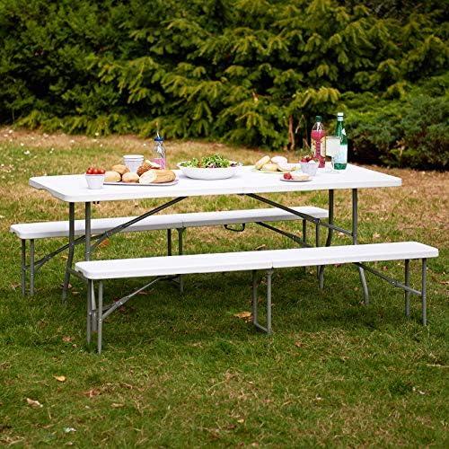 Picnic//Campeggio//Feste in Giardino Panca Pieghevole Portatile 182 cm Hartleys 6ft