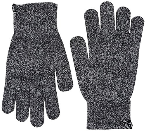 Brooklyn Athletics Black Marl Embroidered Winter Gloves, 3-Pack