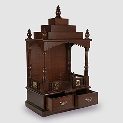 Buy ExclusiveLane Teak Wood Mandir in Walnut Brown -Temple for Home ... 88e842adf