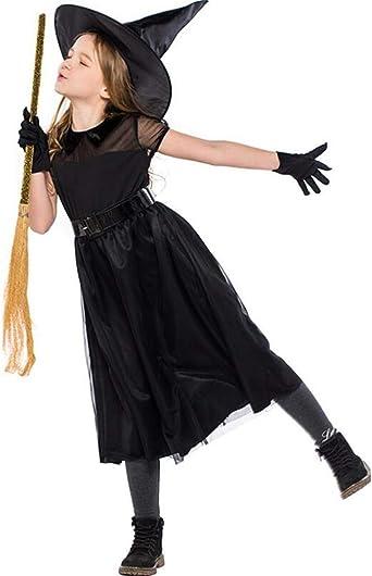 LOBTY Disfraz de Bruja para niña, Disfraz de Fiesta de Disfraces ...