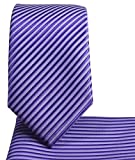 Skinny Necktie and Pocket Square, Stripes