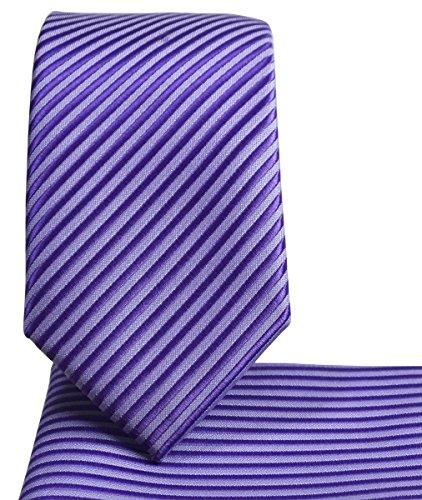 Skinny Necktie and Pocket Square, Stripes by $15 Ties