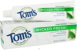product image for Tom's of Maine Wicked Fresh Long Lasting Fresh Breath Fluoride Toothpaste, Spearmint Ice, 3 tubes of toothpaste 4.7 ounces