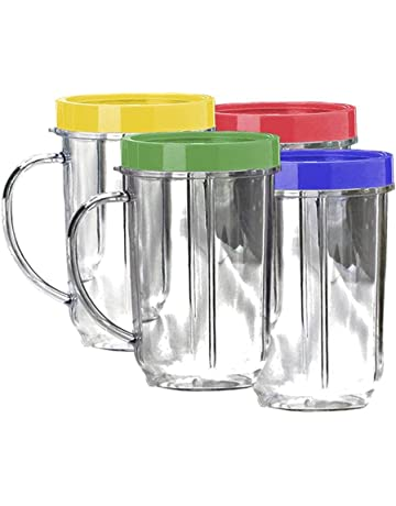 Lutema Replacement Juicer Cups 16oz. - Party Cup Mugs Compatible with Original Magic Bullet …