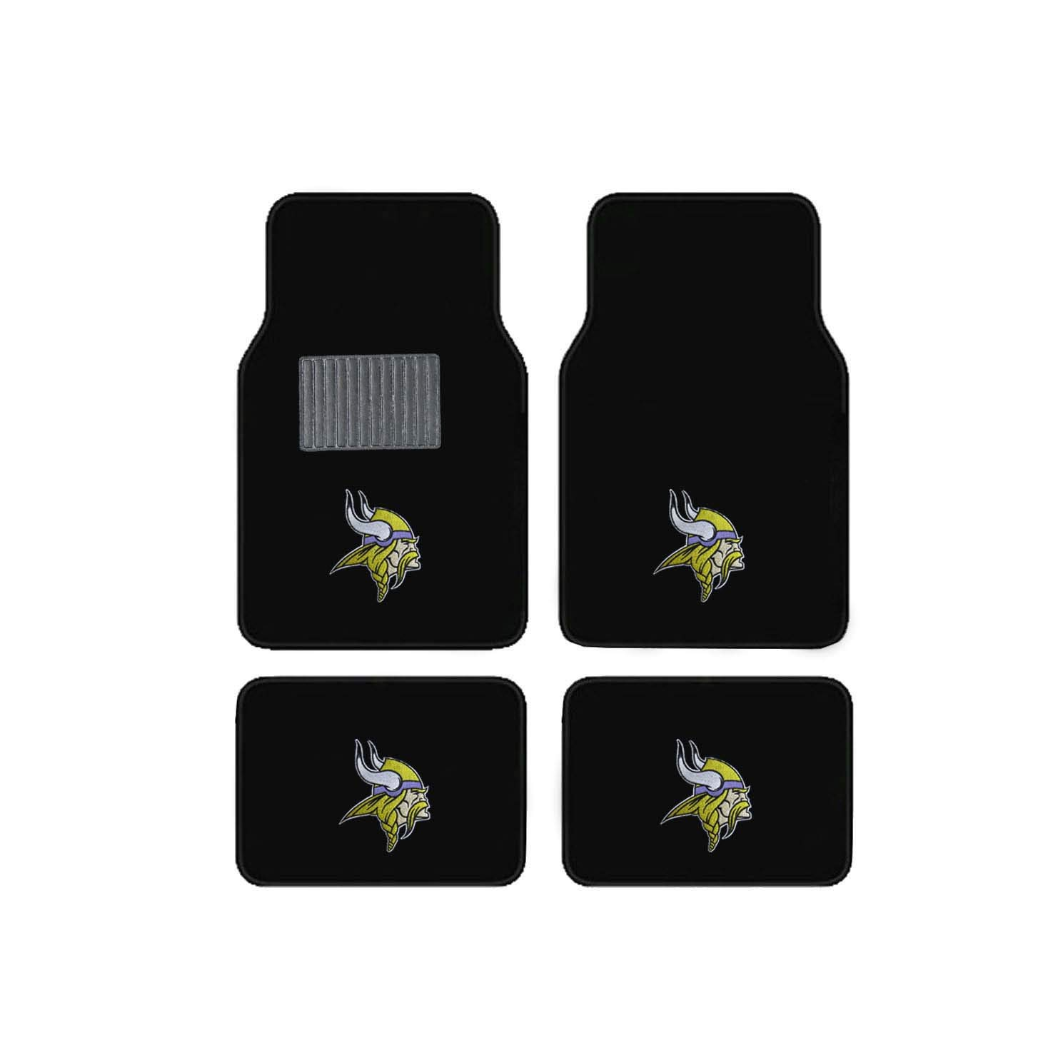 Newly Released Licensed Minnesota Vikings Embroidered Logo Carpet Floor Mats. Wow Logo on All 4 Mats. Sports Licensing Solutions