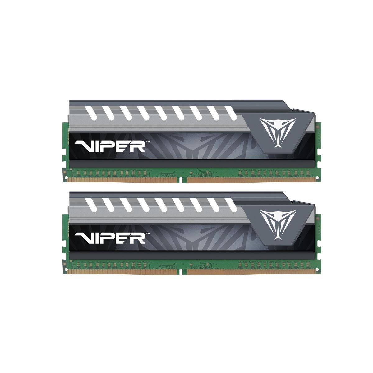 Patriot Memory Performance Viper Elite DDR4 8GB Memory Kit PC4-17000 (2133MHZ) PVE48G213C4KGY Gray by Patriot