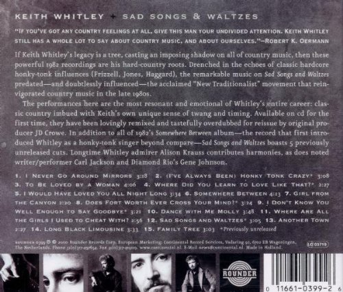 Sad Songs & Waltzes by Whitley, Keith